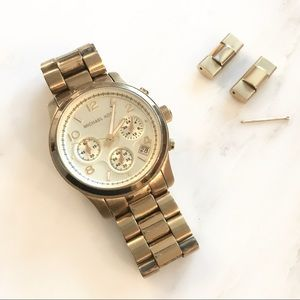 Michael Kors || Gold-tone Chronograph Watch